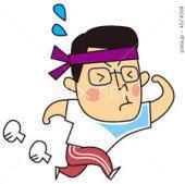 運動会で走る父
